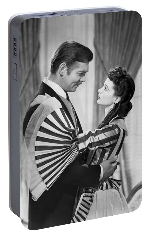 1930s Portable Battery Charger featuring the photograph Clark Gable And Vivien Leigh by Underwood Archives