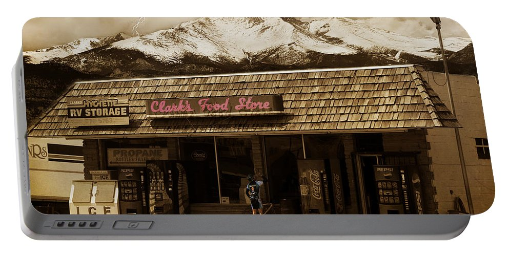 Hygiene Portable Battery Charger featuring the photograph Clarks Old General Store by James BO Insogna