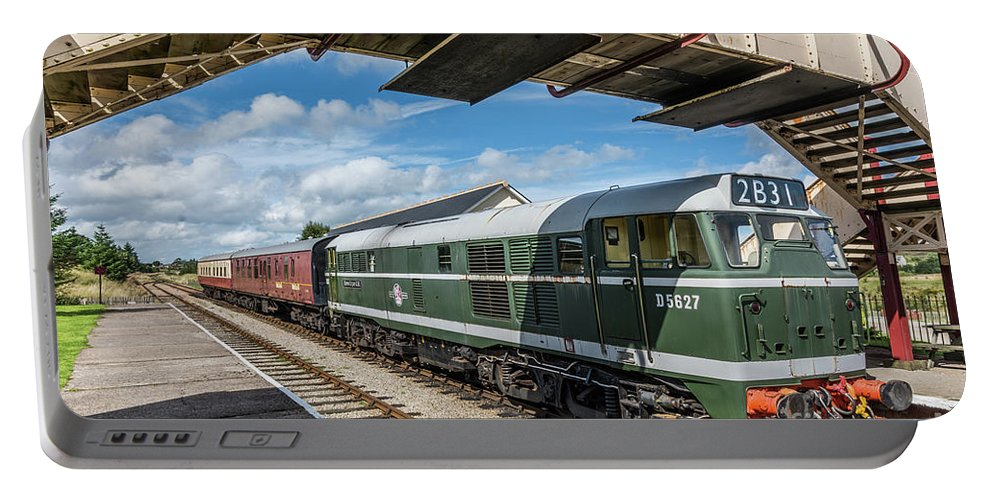 Pontypool And Blaenavon Railway Portable Battery Charger featuring the photograph Class 31 Diesel 1 by Steve Purnell