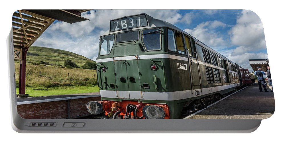 Pontypool And Blaenavon Railway Portable Battery Charger featuring the photograph Class 31 Diesel 3 by Steve Purnell