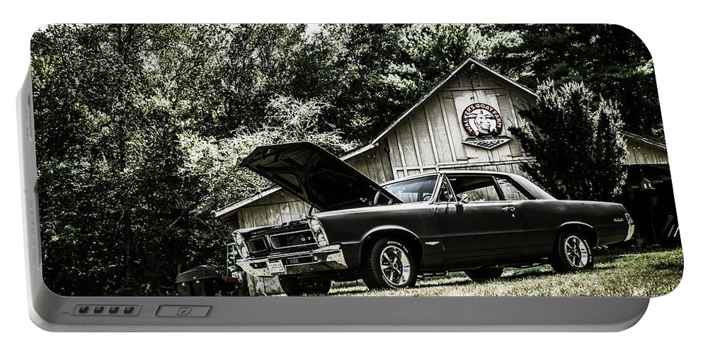 Classic Portable Battery Charger featuring the photograph Class Cars by Mickie Bettez