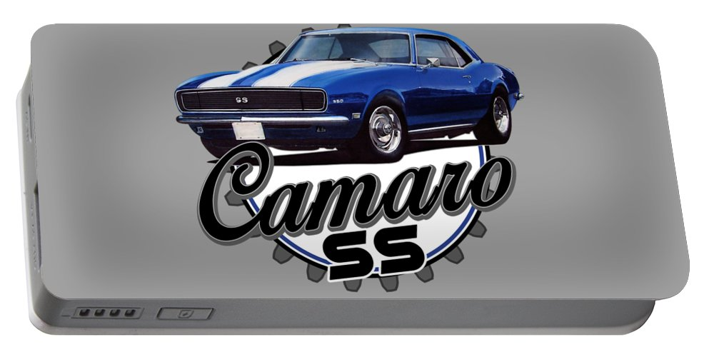 Classic Portable Battery Charger featuring the digital art Classic Camaro by Paul Kuras