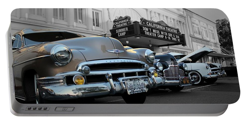 Hotrods Portable Battery Charger featuring the photograph Classic Cars by Jesse Sanchez