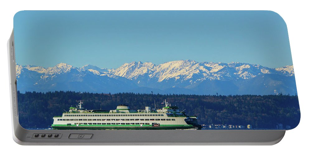 Ferry Portable Battery Charger featuring the photograph Classic Ferry by Brian O'Kelly