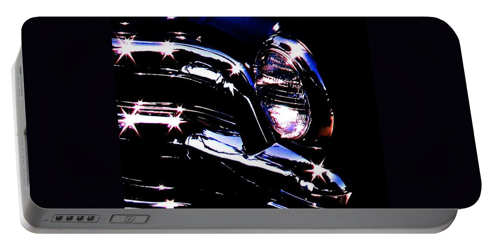 Photograph Of Classic Car Portable Battery Charger featuring the photograph Classic Sparkle by Gwyn Newcombe