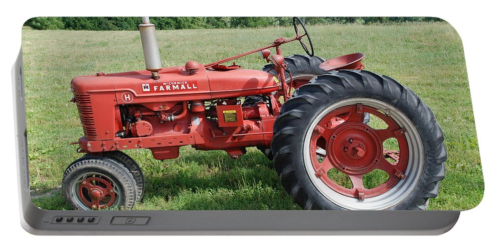 Farm Portable Battery Charger featuring the photograph Classic Tractor by Richard Bryce and Family