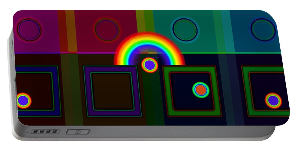 Classical Portable Battery Charger featuring the digital art Classical Rainbow by Charles Stuart