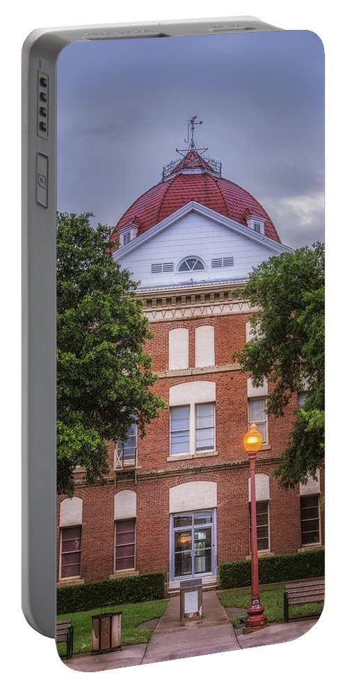 Joan Carroll Portable Battery Charger featuring the photograph Clay County Courthouse by Joan Carroll