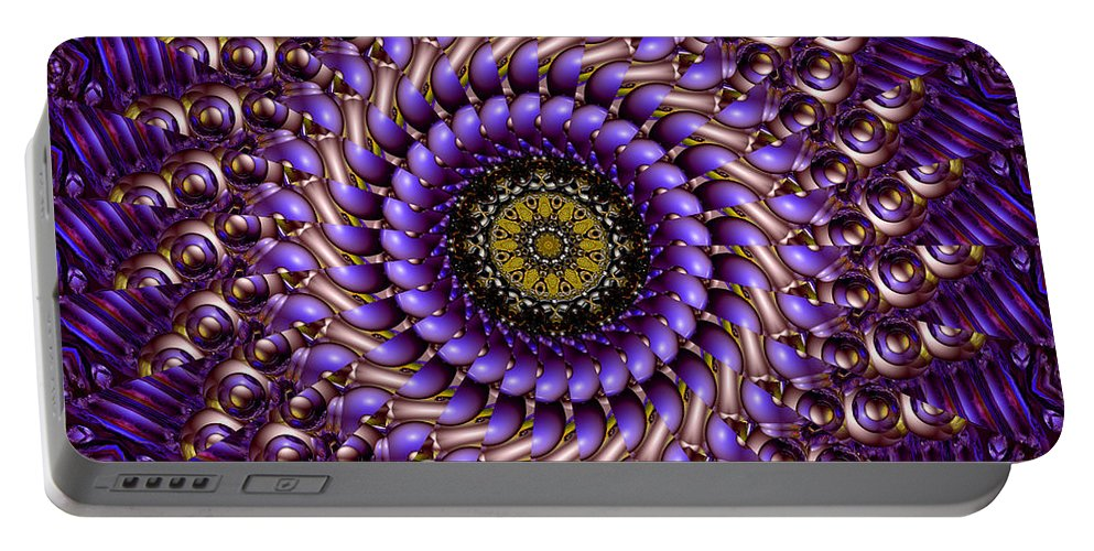 Swirl Portable Battery Charger featuring the digital art Clean Energy by Robert Orinski