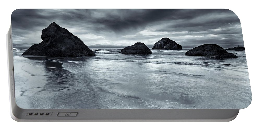 Beach Portable Battery Charger featuring the photograph Clearing Storm by Mike Dawson