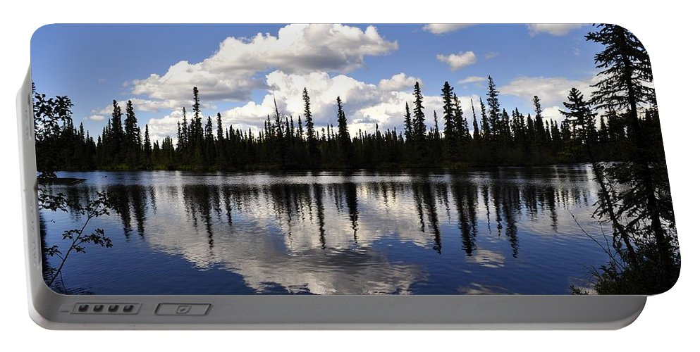 River Portable Battery Charger featuring the photograph Clearwater Reflections by Cathy Mahnke