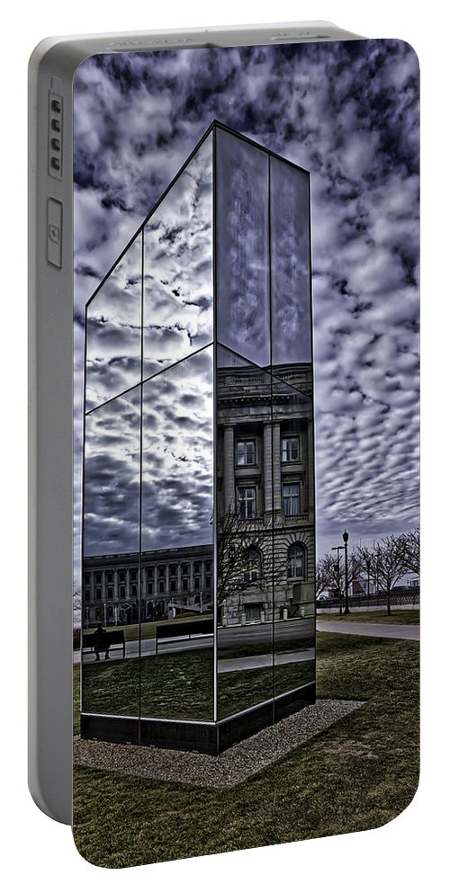 Cleveland Portable Battery Charger featuring the photograph Cleveland Blues by Jackie Sajewski