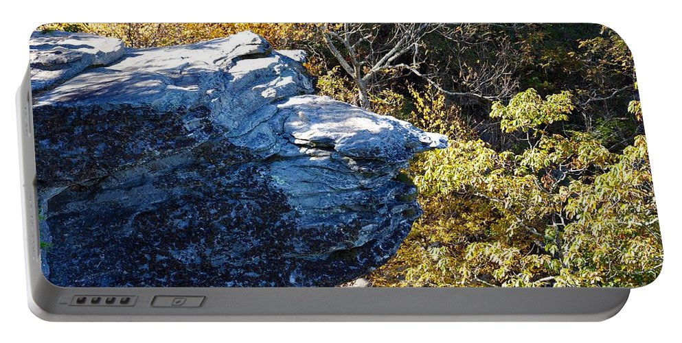 Wiseman's View Portable Battery Charger featuring the photograph Cliff Face by Christina McKinney