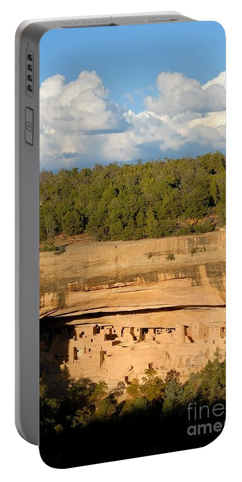 Cliff Palace Portable Battery Charger featuring the photograph Cliff Palace Landscape by David Lee Thompson
