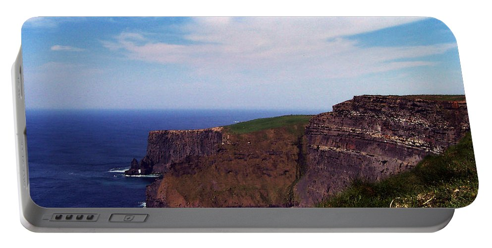Irish Portable Battery Charger featuring the photograph Cliffs Of Moher Aill Na Searrach Ireland by Teresa Mucha