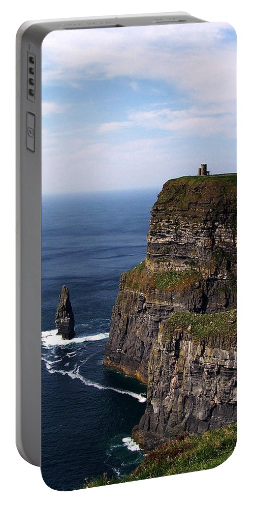Irish Portable Battery Charger featuring the photograph Cliffs Of Moher County Clare Ireland by Teresa Mucha