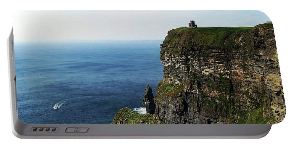 Irish Portable Battery Charger featuring the photograph Cliffs Of Moher Ireland by Teresa Mucha