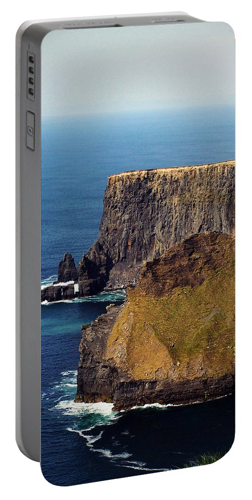 Irish Portable Battery Charger featuring the photograph Cliffs Of Moher Ireland View Of Aill Na Searrach by Teresa Mucha