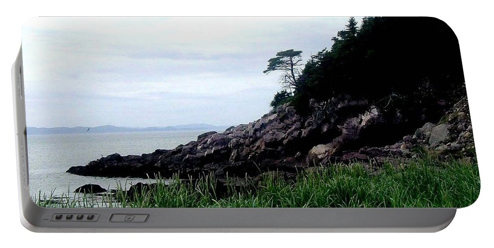 Cliffside Portable Battery Charger featuring the photograph Cliffside II by Barbara Griffin