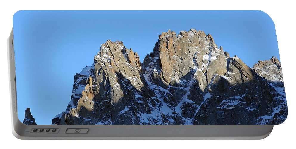 Mountain Portable Battery Charger featuring the photograph Climbers Sunlit Challenge by Pat Speirs