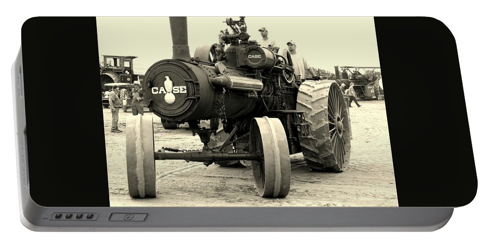 Tractor Portable Battery Charger featuring the photograph Climbing With An Old Case by Curtis Tilleraas