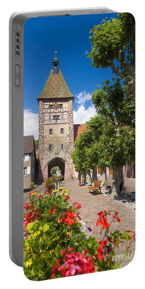 Alsace Portable Battery Charger featuring the photograph Half-timbered Houses, Alsace, France by Marco Arduino
