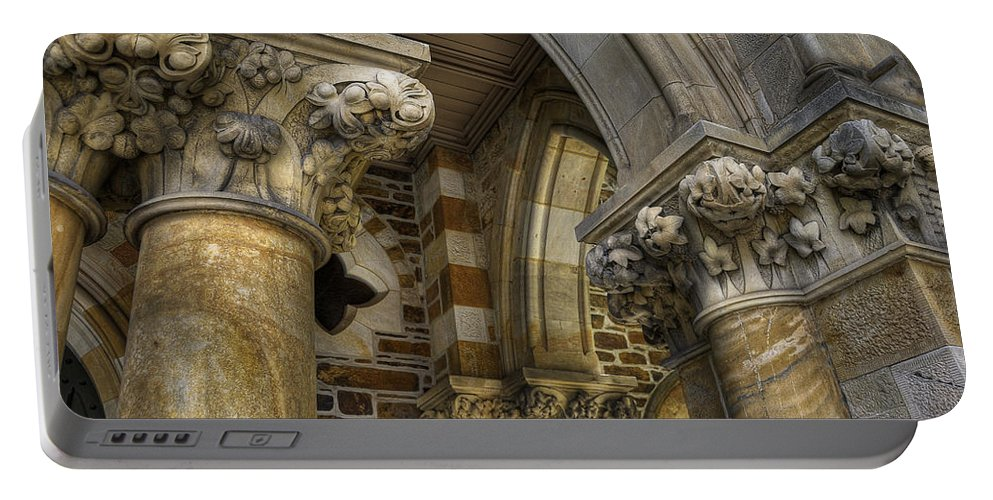 Church Portable Battery Charger featuring the photograph Cloisters by Wayne Sherriff