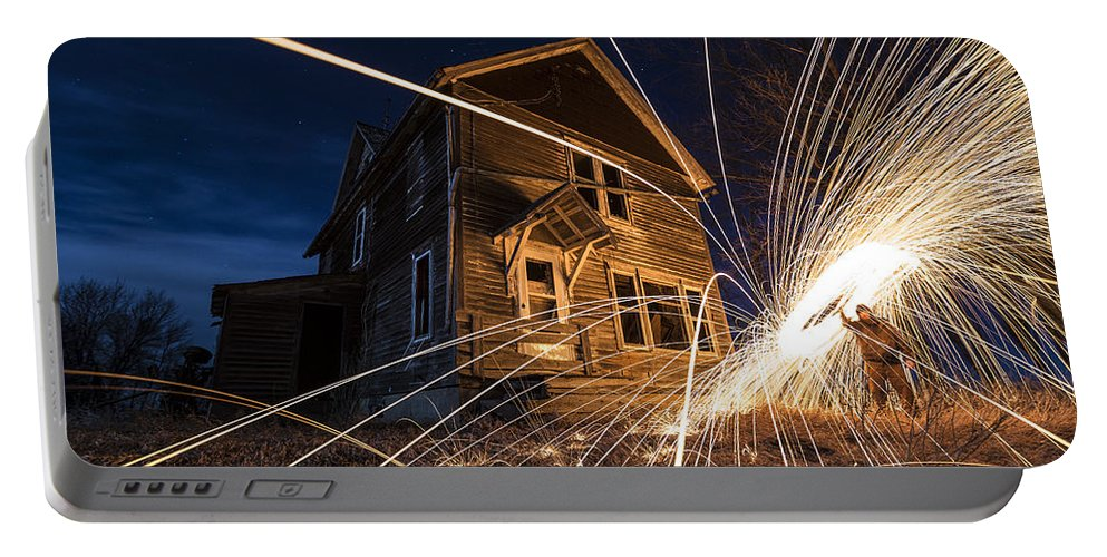 Steel Wool Portable Battery Charger featuring the photograph Close Encounter by Aaron J Groen