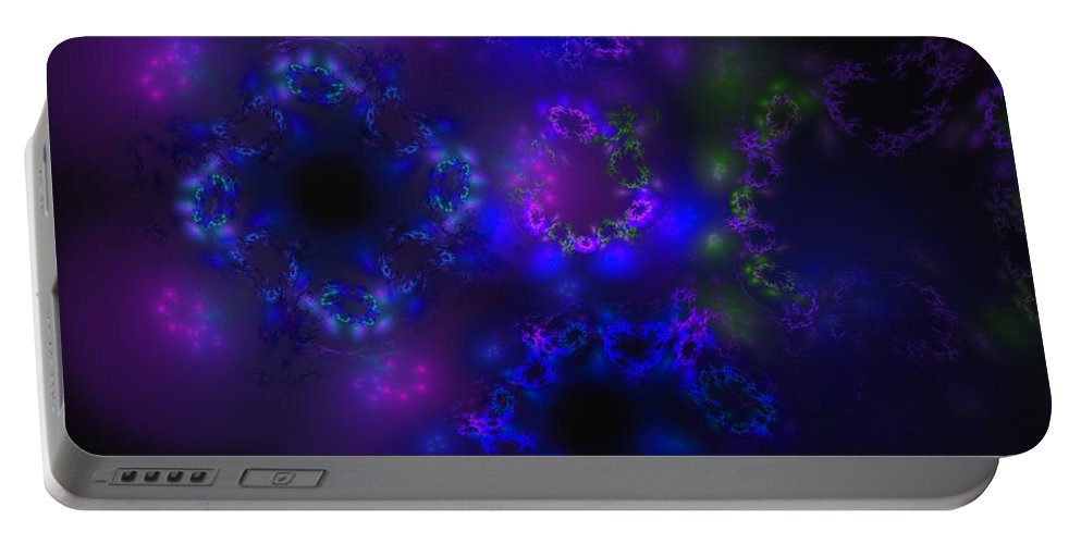 Fantasy Portable Battery Charger featuring the digital art Close Encounters by David Lane