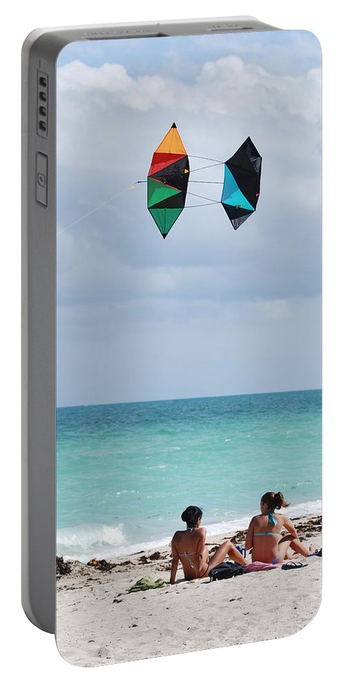 Sea Scape Portable Battery Charger featuring the photograph Close Encounters by Rob Hans