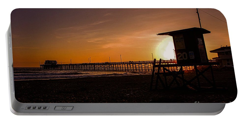 Newport Beach Portable Battery Charger featuring the photograph Close Of The Day At Newport Beach by Tommy Anderson