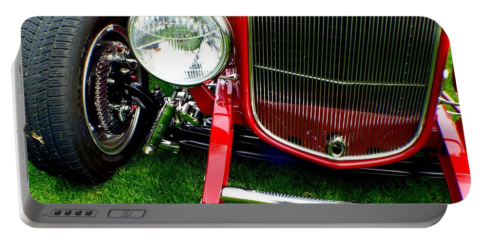 Hot Rod Portable Battery Charger featuring the photograph Close Up by Barbara Angle
