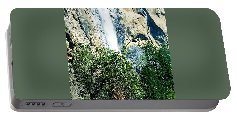 Landscape Portable Battery Charger featuring the photograph Close Up Of Waterfall by Shannon Elizabeth