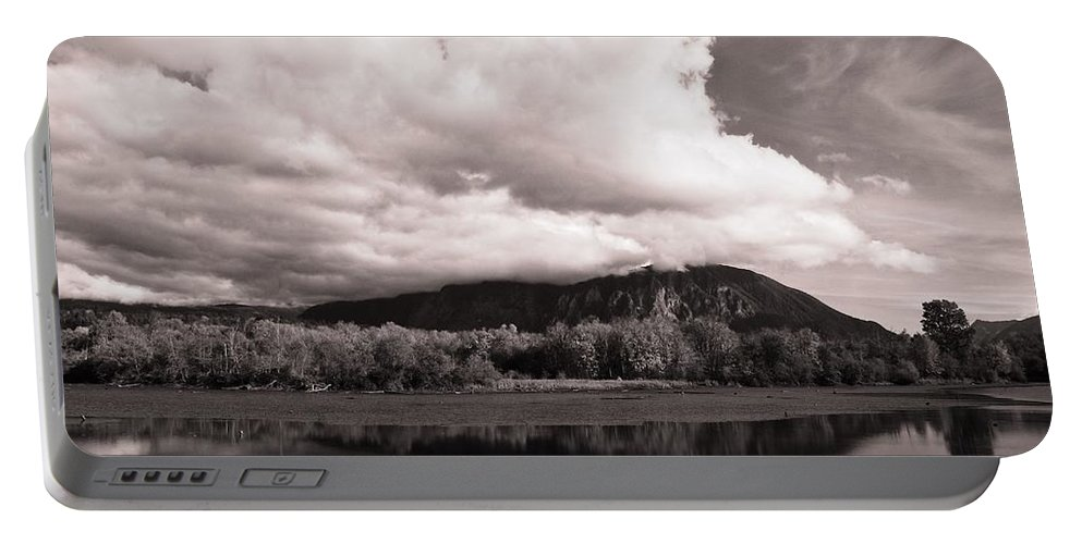 Cloud Cover Portable Battery Charger featuring the photograph Cloud Cover by David Coleman
