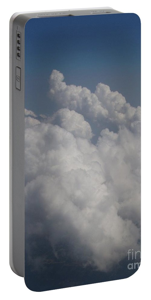Clouds Portable Battery Charger featuring the photograph Cloud Depth II by Deborah Crew-Johnson