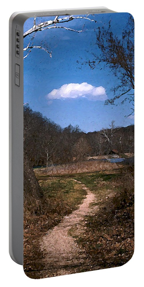 Landscape Portable Battery Charger featuring the photograph Cloud Destination by Steve Karol