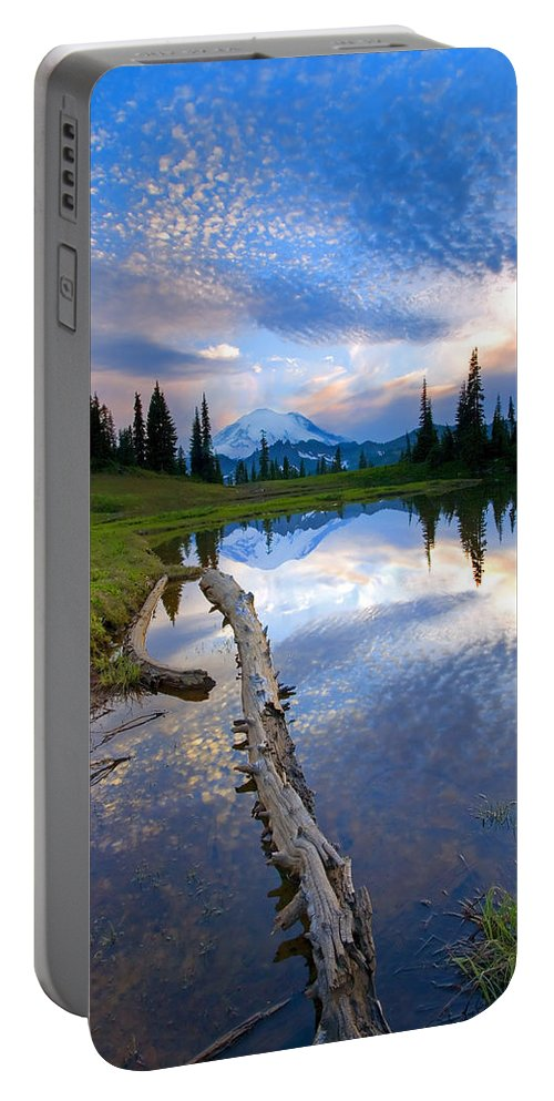 Landscape Portable Battery Charger featuring the photograph Cloud Explosion by Mike Dawson