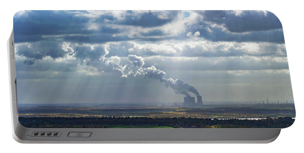 Cloud Portable Battery Charger featuring the photograph Cloud Factory by Kyle Goetsch