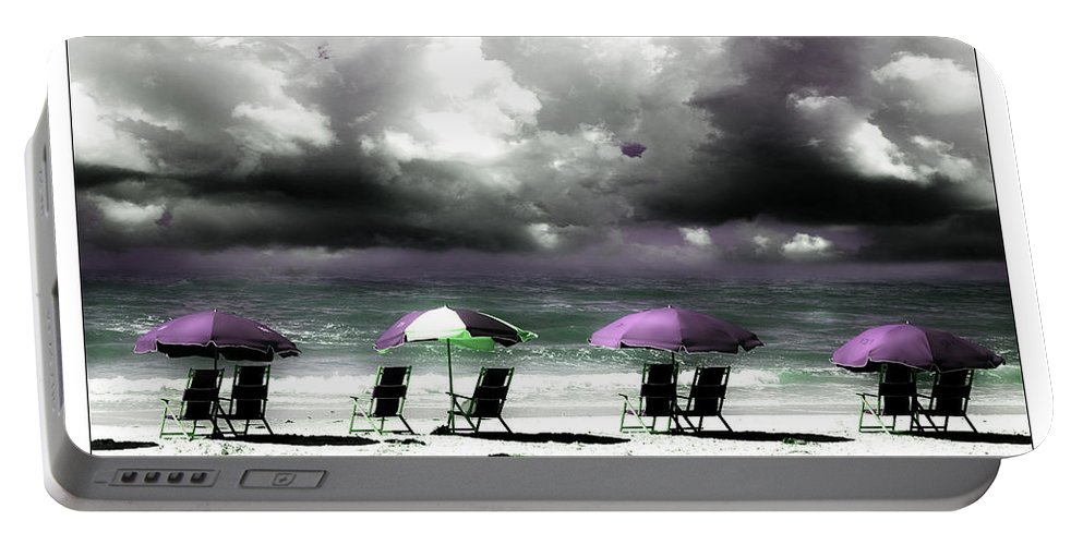 Beach Portable Battery Charger featuring the photograph Cloud Illusions by Mal Bray