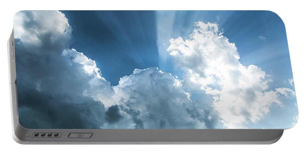 Clouds Portable Battery Charger featuring the photograph Cloud Light by Paula OMalley