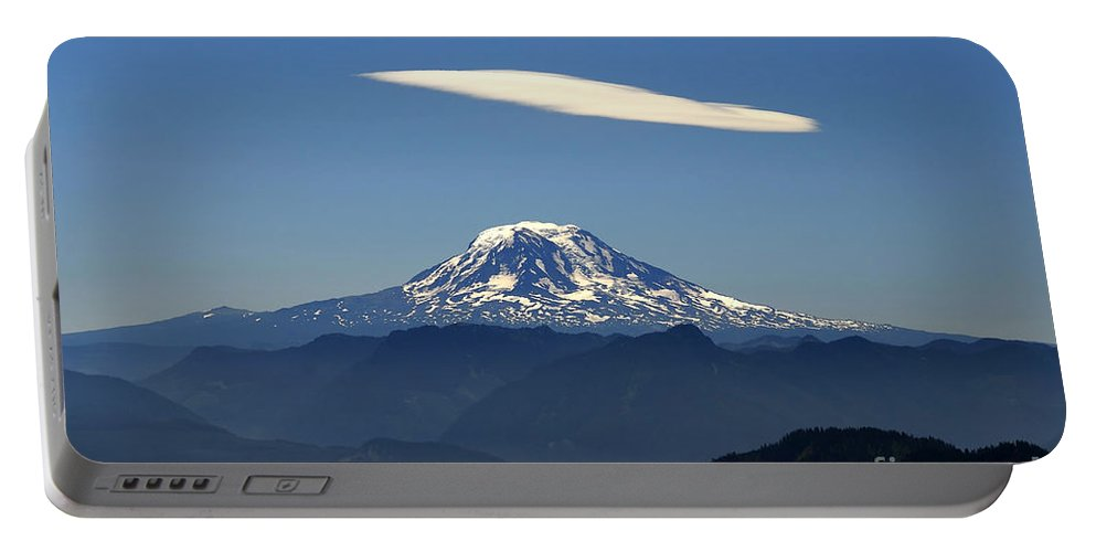 Mount Adams Portable Battery Charger featuring the photograph Cloud Over Adams by David Lee Thompson