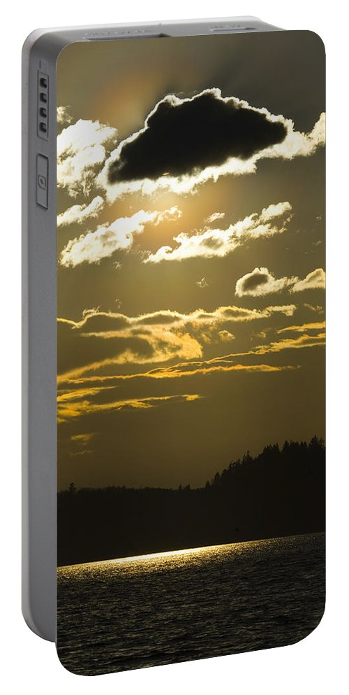 Landscape Portable Battery Charger featuring the photograph Cloud Shadows by Karen Ulvestad