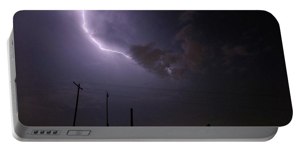 Nature Portable Battery Charger featuring the photograph Cloud To Cloud Lightning by Matt Taylor