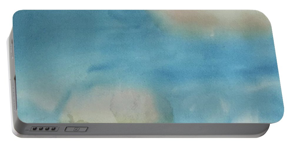 Sky Portable Battery Charger featuring the painting Clouds by Alice Singer
