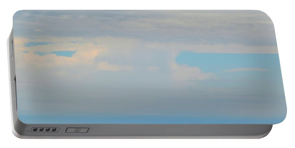 Abstract Portable Battery Charger featuring the photograph Clouds In The Sky At 3.09 Pm by Lyle Crump