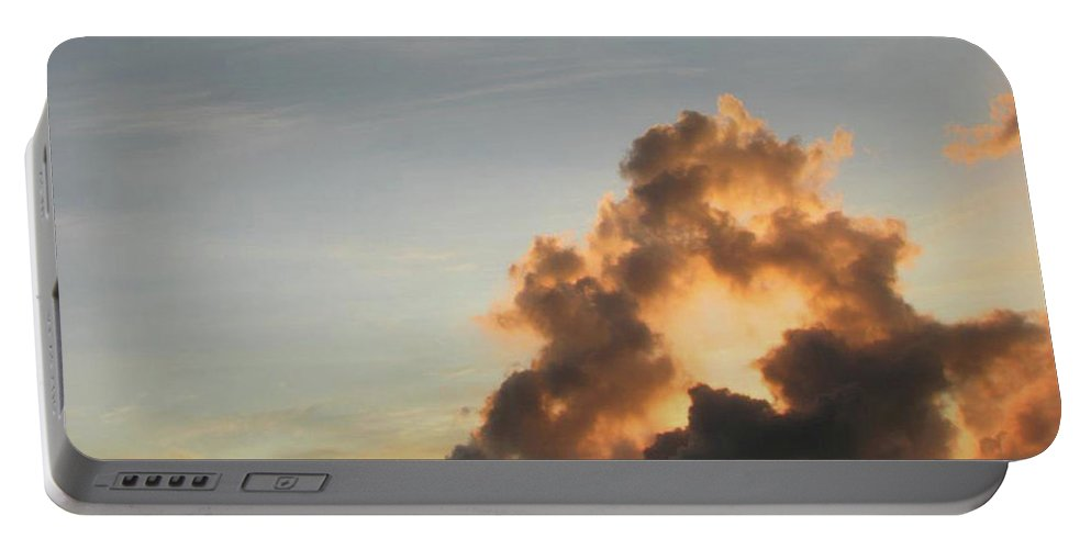 Photo Sea Ocean Photography Landscape Caribe Sunset Water Beach Sun Relax Contemporary Decorative Abstract Prints Diving Night Photographs Clouds Sand Water Bubbles Clouds Lights Art Photo Picture Gift Portable Battery Charger featuring the photograph Clouds by Juan Mildenberger