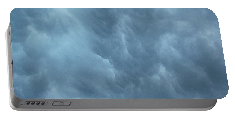 Clouds Portable Battery Charger featuring the photograph Clouds Like The Sea by Deborah Crew-Johnson