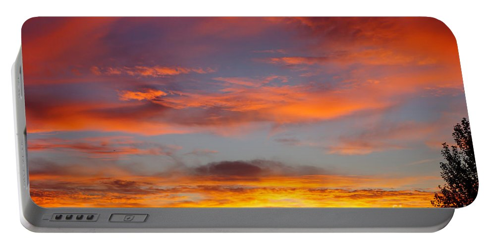 America Portable Battery Charger featuring the photograph Clouds On Fire by Jennifer White