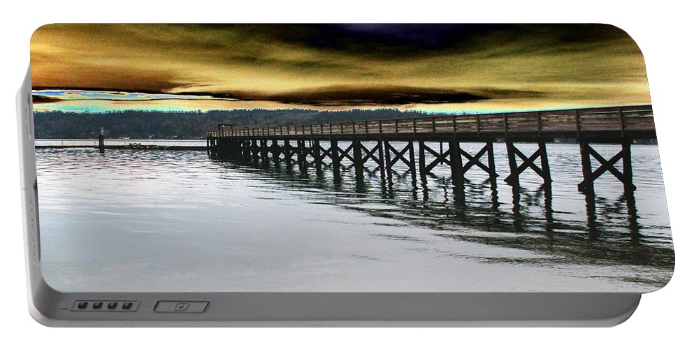 Clouds Portable Battery Charger featuring the photograph Clouds Over Illahee by Tim Allen