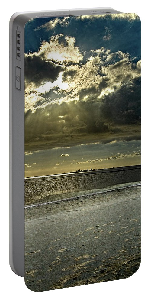 Beach Portable Battery Charger featuring the photograph Clouds Over The Bay by Christopher Holmes